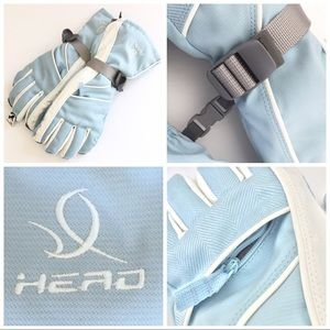 HEAD Outlast ski gloves, blue & white, women's M